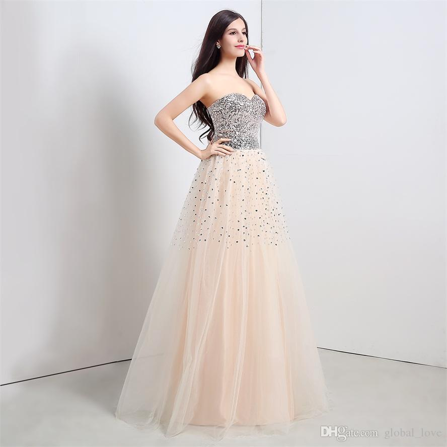 Vintage Spakely Evening Gowns Cheap Prom Dresses Under 100 Floor ...