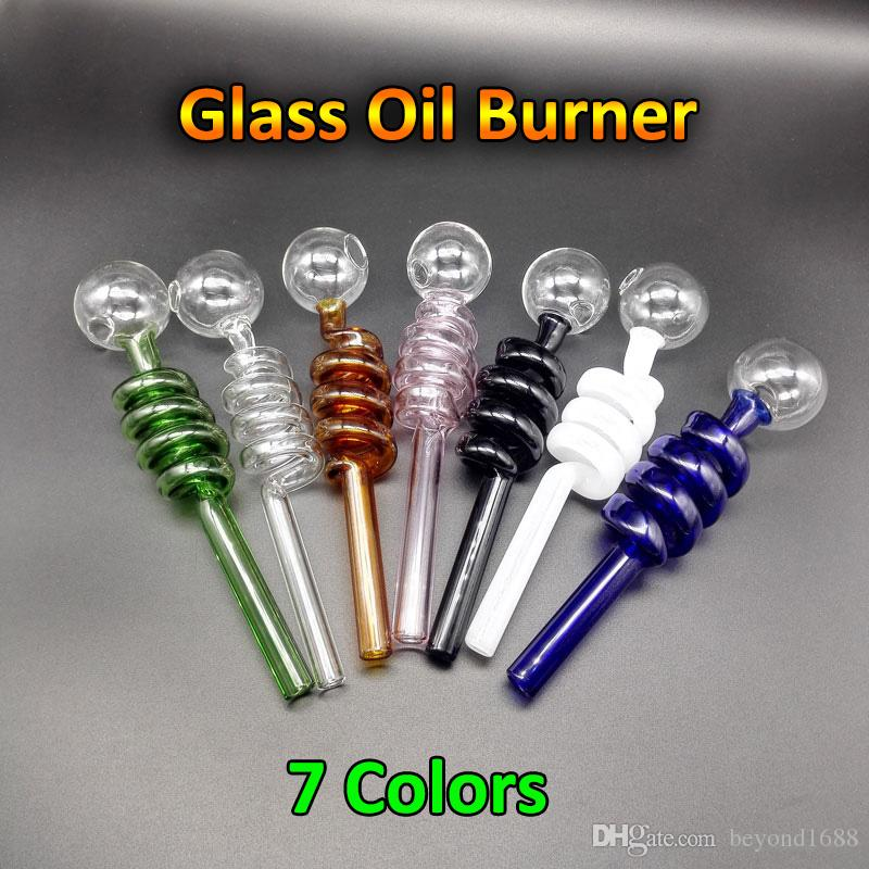 Pyrex Glass Oil Burner Pipe Cheap Colored Glass Water Pipe Bubbler Pyrex Oil Burner Pipes Smoking Water Hand Pipe Tobacco