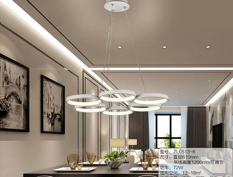 LED Contracted Sitting Room Lights Creative Personality Dining Room Lamp  Acrylic Lamps And Lanterns Is Circular Pendant Lamps @ 9 Ceiling Light  Shades ...