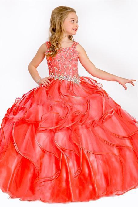 Бальные платья платья для девочек со стразами корсет театрализованное платье для девочек платья длиной до пола детские вечерние платья