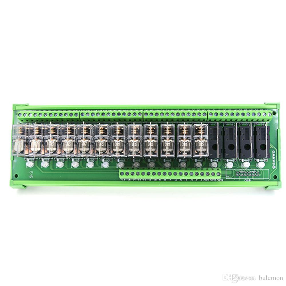 DC24V 16 Channel OMRON Relay Module PLC Amplifier Board 16 Road Relay Module TNKG2R-1E-K1624