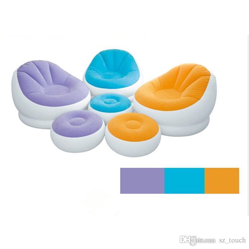 متعدد الوظائف نفخ سحب كرسي نوم أريكة جديد المحمولة اسطوانة الأزياء يتدفقون نفخ أريكة