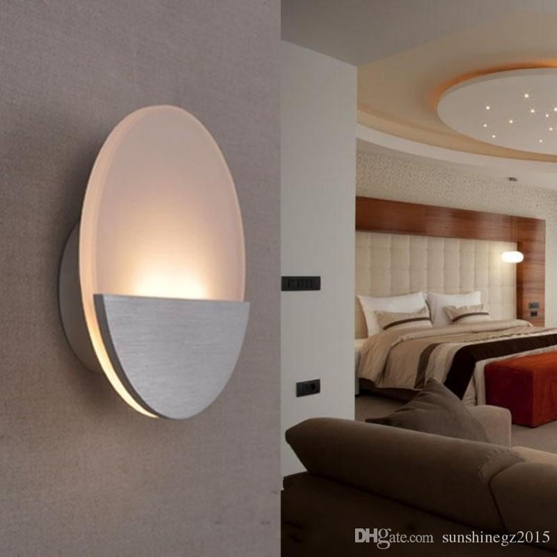 2019 Round Indoor Lighting LED Lighting Original Design Modern Style Wall  Mounted Warm White Acrylic Wall Lamp Bedroom Lamp From Sunshinegz2015, ...