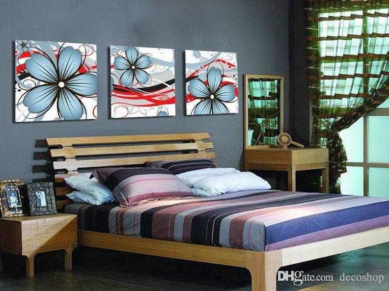 현대 아름다운 꽃 좋은 꽃 그림 캔버스에 Giclee 인쇄 홈 장식 벽 예술 Set30372