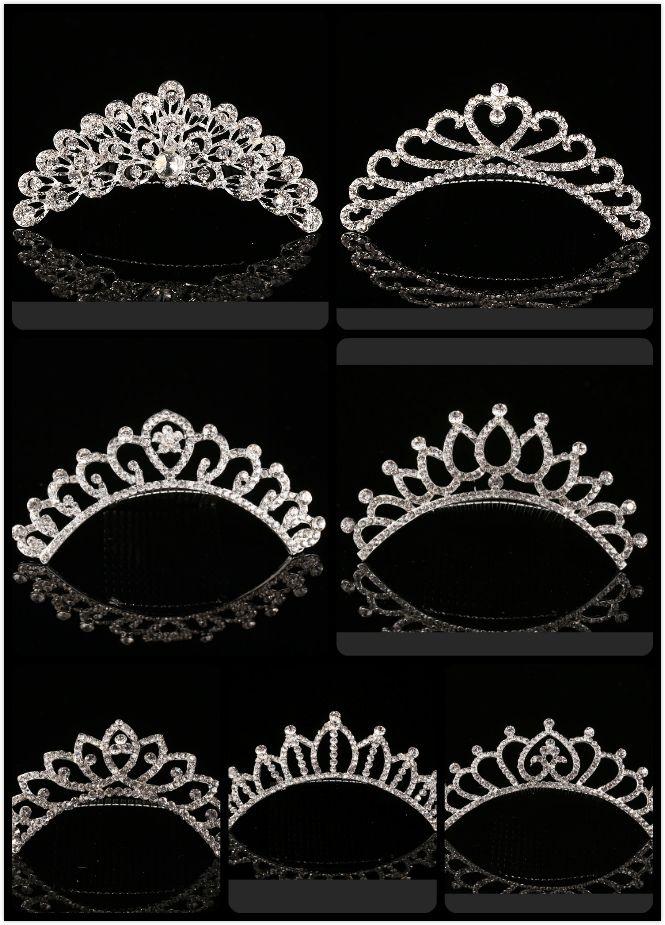 2018 À La Mode 10 Styles Moins Cher Brillant Strass Couronne Filles 'Mariée Diadèmes De Mode Couronnes De Mariée Accessoires Pour Mariage Événement