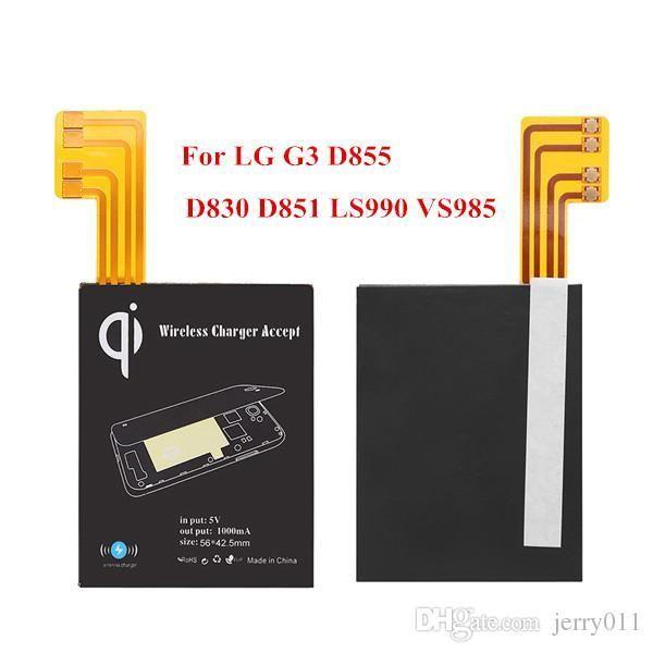 Support de chargeur de chargeur de charge Qi sans fil de haute qualité NFC pour LG G3 D855 D830 D851 LS990 VS985