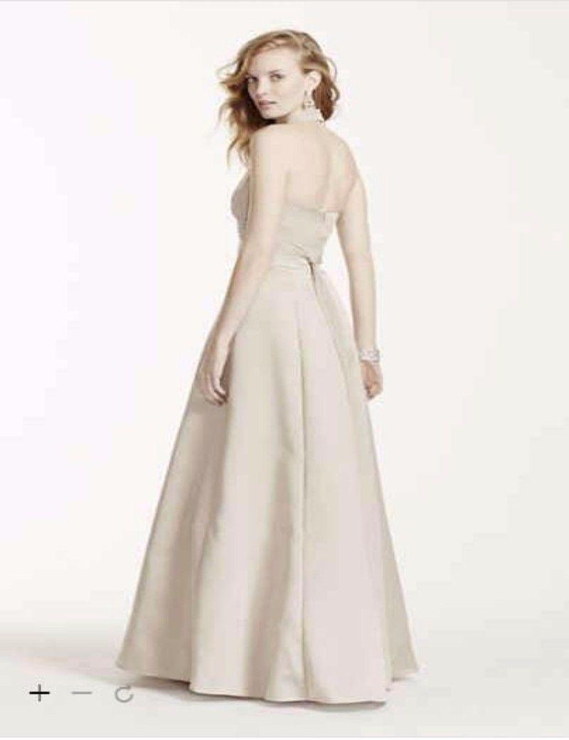 2016 Satin Ball Gown Empire Waist With Halter 81441 Bridesmaid ...