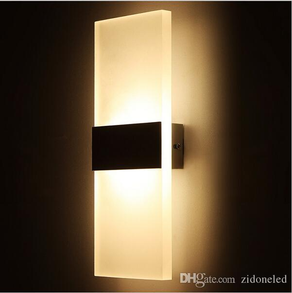 2019 Modern Acrylic Led Wall Lights Up Down Wall Sconces Bedside Lamp For  Kitchen Restaurant Living Bedroom Living Room Lamp Led Bathroom Light From  ...