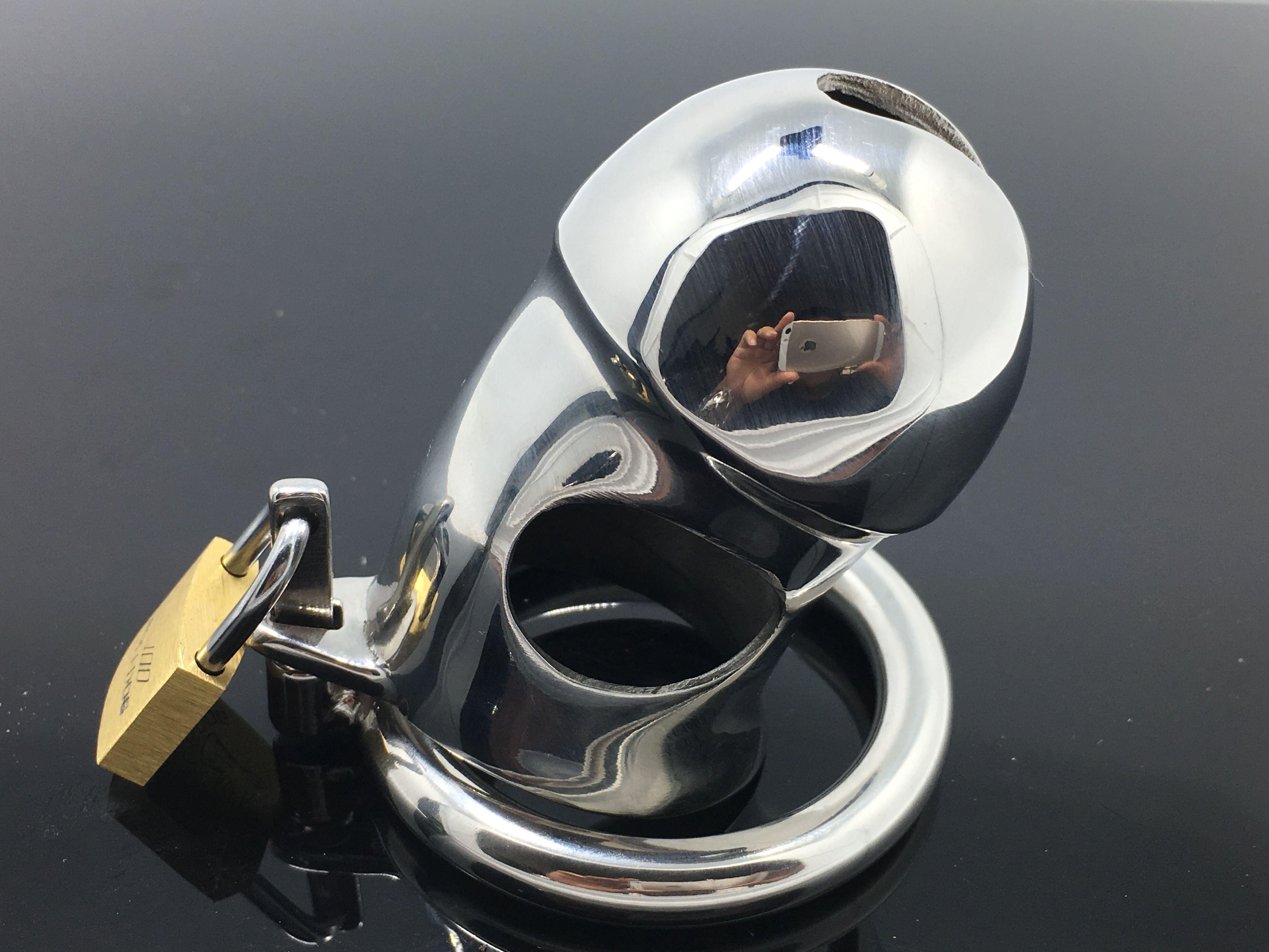 2018 heißer verkauf das neueste design der männlichen ring edelstahl keuschheit metall keuschheitsvorrichtung Der Penis Penis verschlossenen Türen