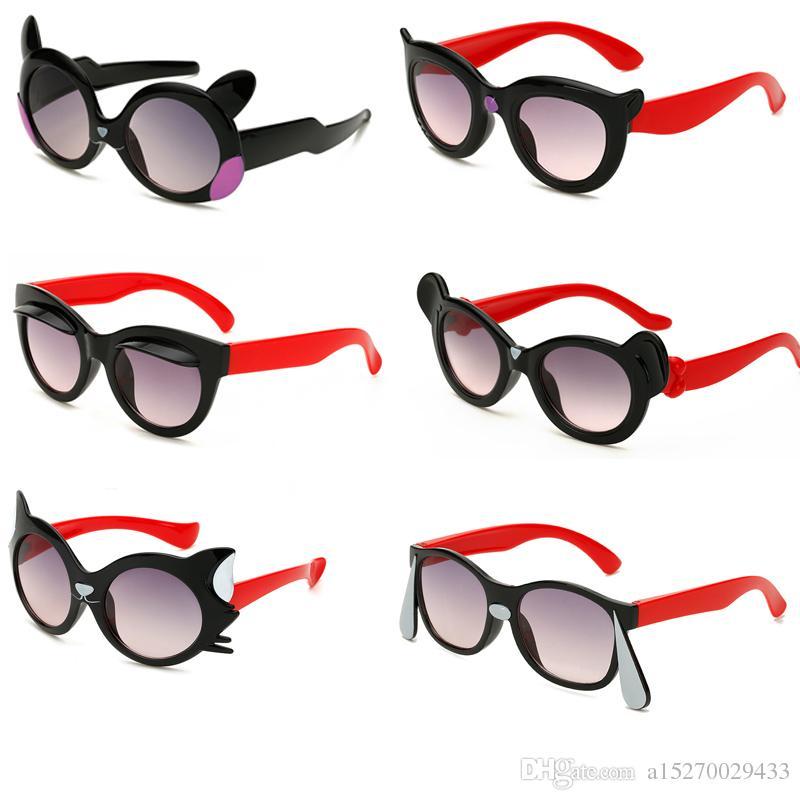 Kids Cartoon Animal Shaped Sunglasses Cute Cat Ear Outdoor UV Protection Eyewear