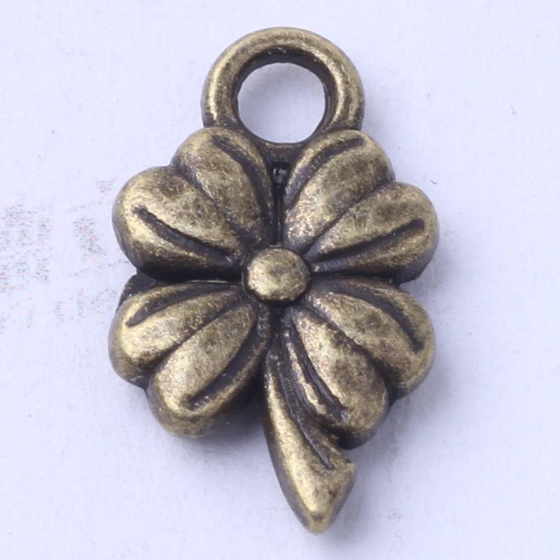 Flower charms fit Bracelets or Necklace antique silver/bronze pendants DIY alloy jewelry 1000pcs/lot 3038z
