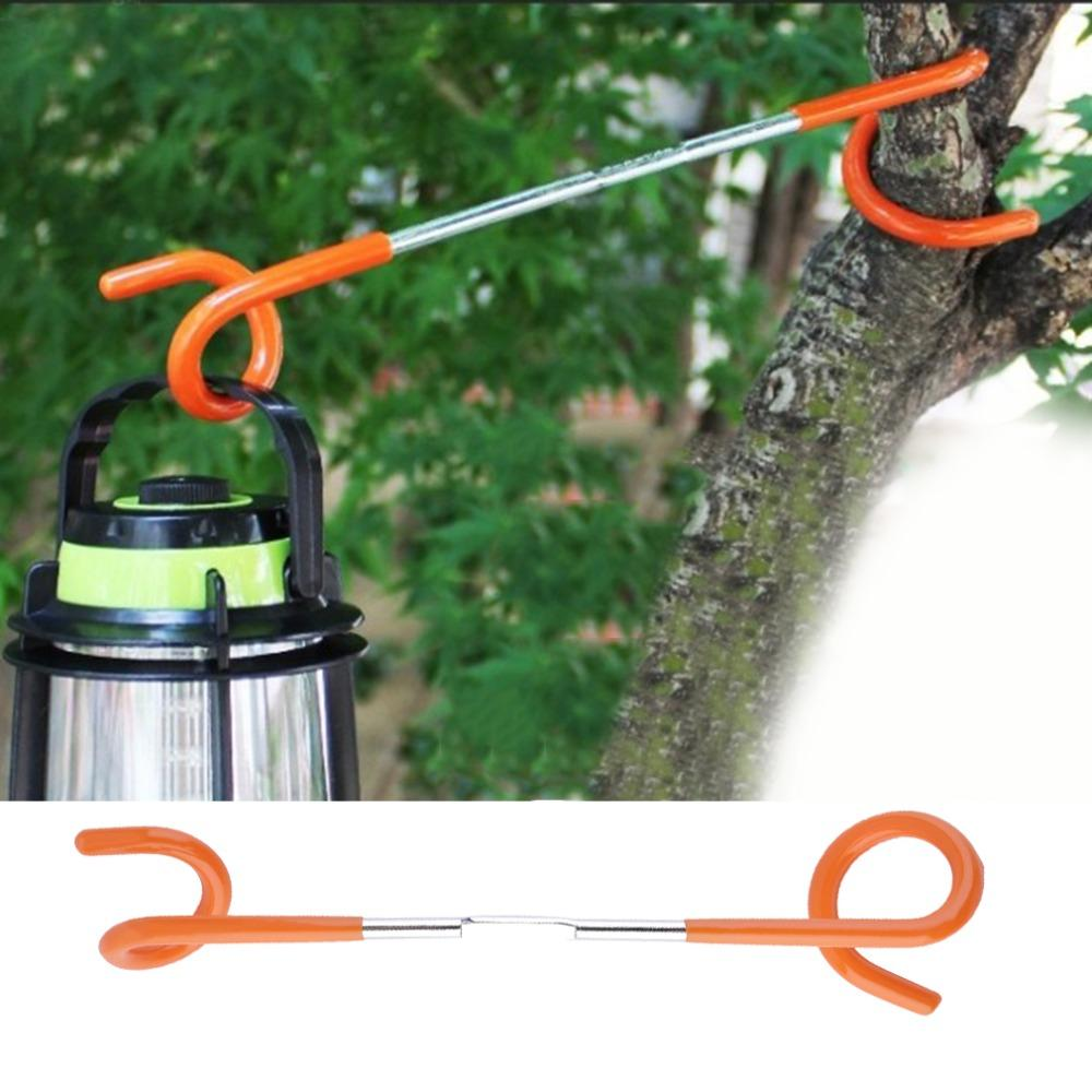 1pc 2 way Lantern Light Lamp Hanger Tent Pole Post Hook for Outdoor Camping free shipping outdoor gadgets