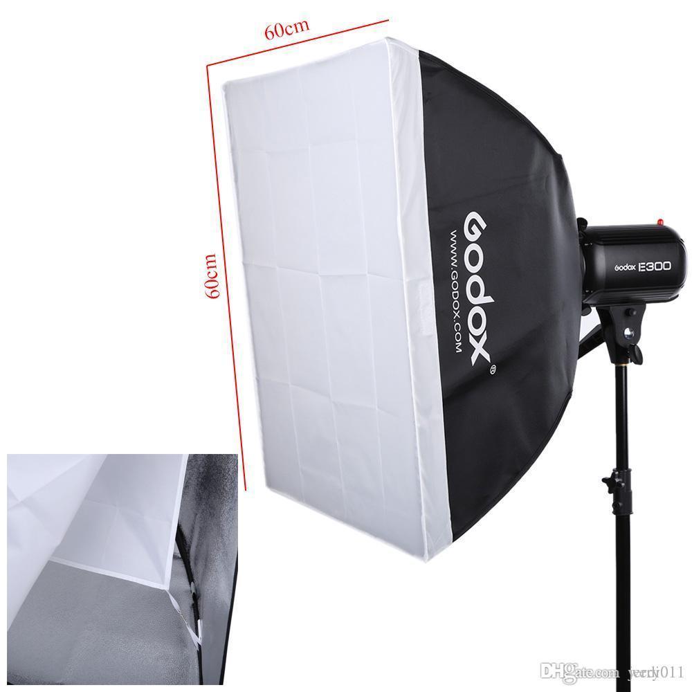 Estúdio de fotografia Kit de Iluminação Speedlite Set Godox Estúdio de Fotografia Strobe Light Flash Stand Softbox Refletor Guarda-chuva Trigger