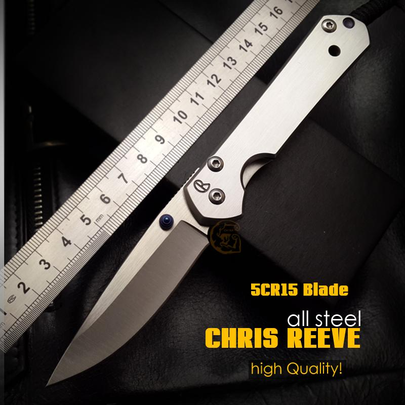 high Quality!CHRIS REEVE tactical Folding Knives 5CR15 Blade all steel handle Camping Outdoor Survival Knives Pocket EDC Tools