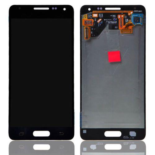 Digitalizador de pantalla táctil negro + ensamblaje de LCD para Samsung Galaxy Alpha G850