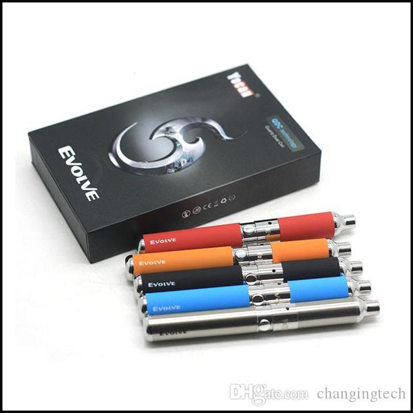 Auténtico Yocan Evolve Kit 650mAh Wax Vaporizer Pen Kit con Quartz Dual Coil VS Evolve Plus Kit