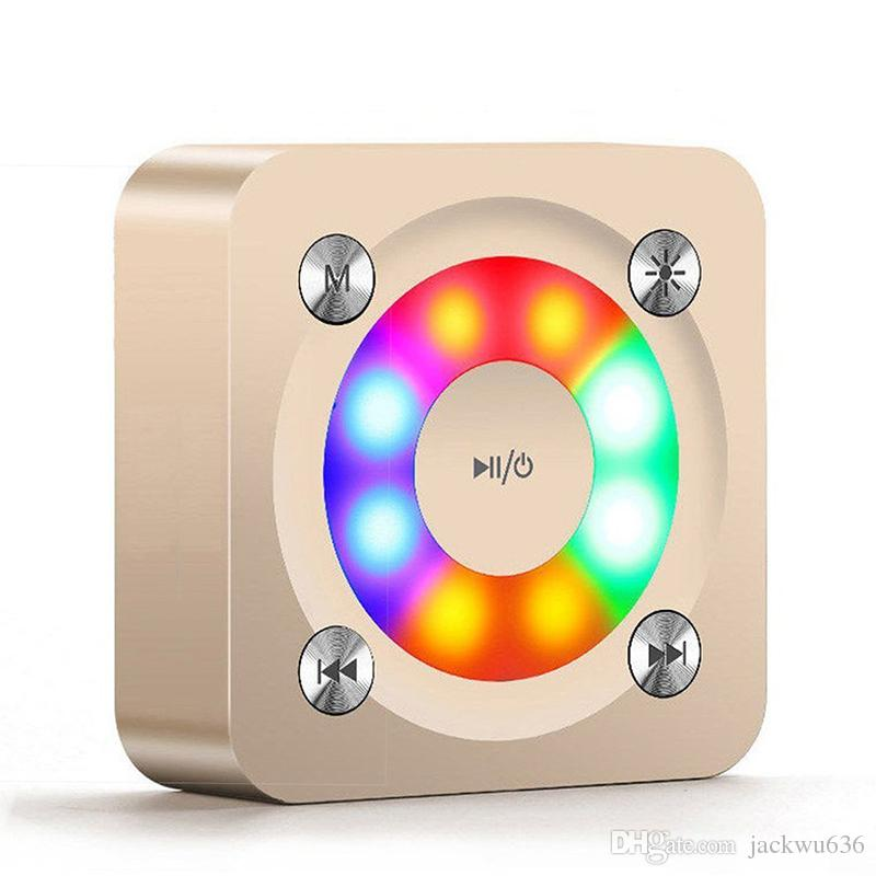 Portable Bluetooth Speaker A9 LED Colorful twinkle lamp MINI speakers Powerful Sound with Microphone Handsfree /TF Card For Smart Phone