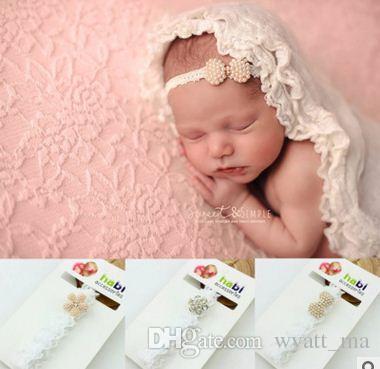 Le fasce del bambino Pearl Diamond neonati fascia capa dei capelli dei bambini accessori per bambini Accessori Bimba puntelli foto