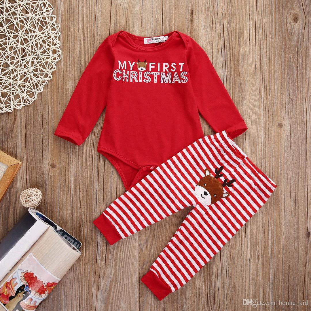 Baby Boys Girls Romper Christmas Deer Costumes Outfits Set Xmas Jumpsuit Newborn