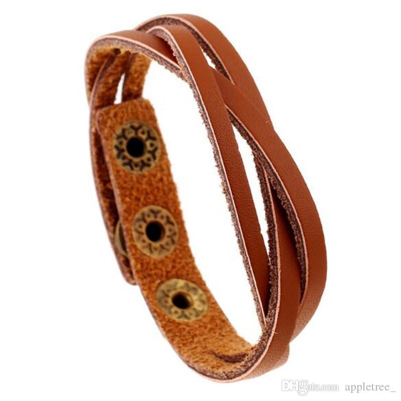 Saint Valentin Cuir tressé Bracelet tissé multicouches Hommes Femmes Bracelets