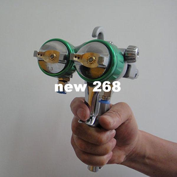 SAT1189 شحن مجاني البخاخ ارتفاع ضغط الساخن على المبيعات مرايا الفضة hvlp مزدوج فوهة بندقية spary