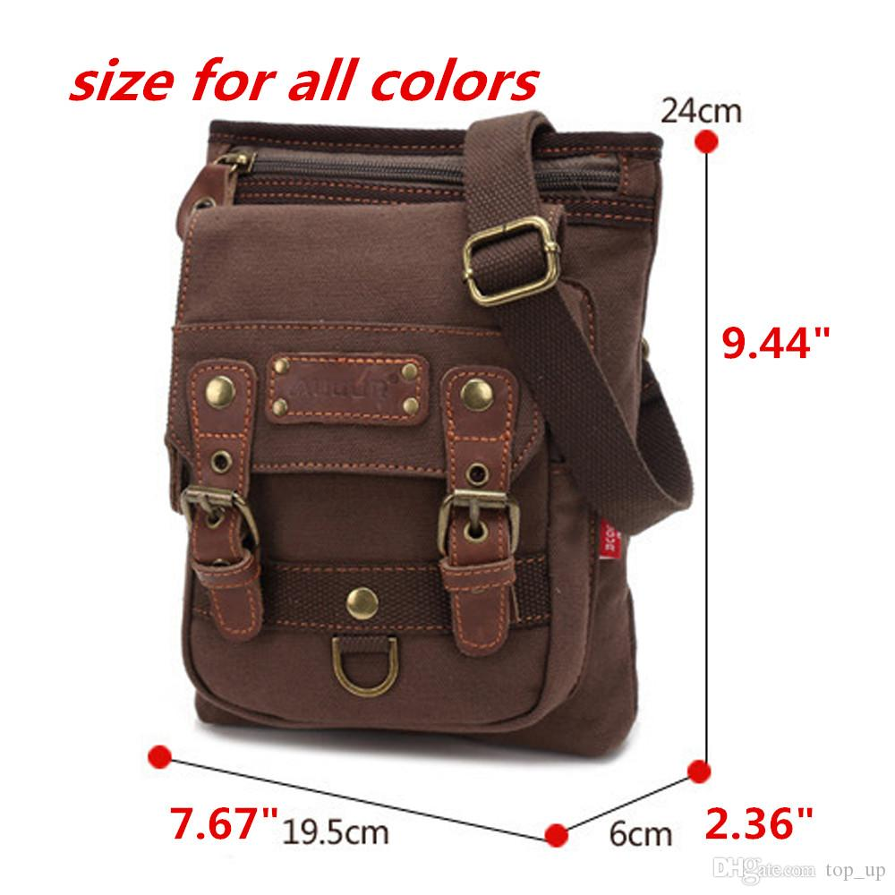 Durable Men'S Messenger Rugged Canvas Leather School Bag Book Bag ...