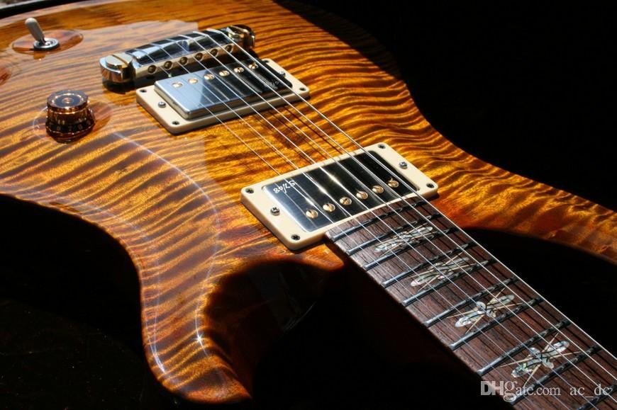 Benutzerdefinierte Reed Smith Amber Brown Flamme Maple DGT David Grissom Unterschrift E-Gitarre sehr Sepcial Griffbrett Inlay