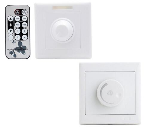 Triac Remoter LED Dimmer Switch 110V 220V Wall Mount with Remote Controller 300W for LED Light Bulbs Lamp Brightness Adjustable CE ROSH FCC