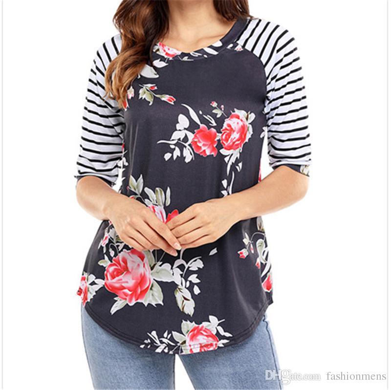 T-Shirt da Donna con Maniche a Sbuffo in Maglia di Moda Sexy Bottoni da Donna con Decoro T-Shirt Slim a Maniche Lunghe
