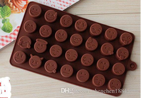 QQ expressionchocolate Moule À Cake Moule À Savon En Silicone Flexible Pour Savon À La Main Bougie Bonbons boulangerie moules de cuisson outils de cuisine moules à glace