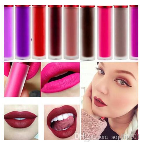 Cosméticos profesionales Maquillaje Matte Impermeable Lip Bloss Riot Malvado Cashmere Blanqueado Pink Velvet Matte Líquido Líque