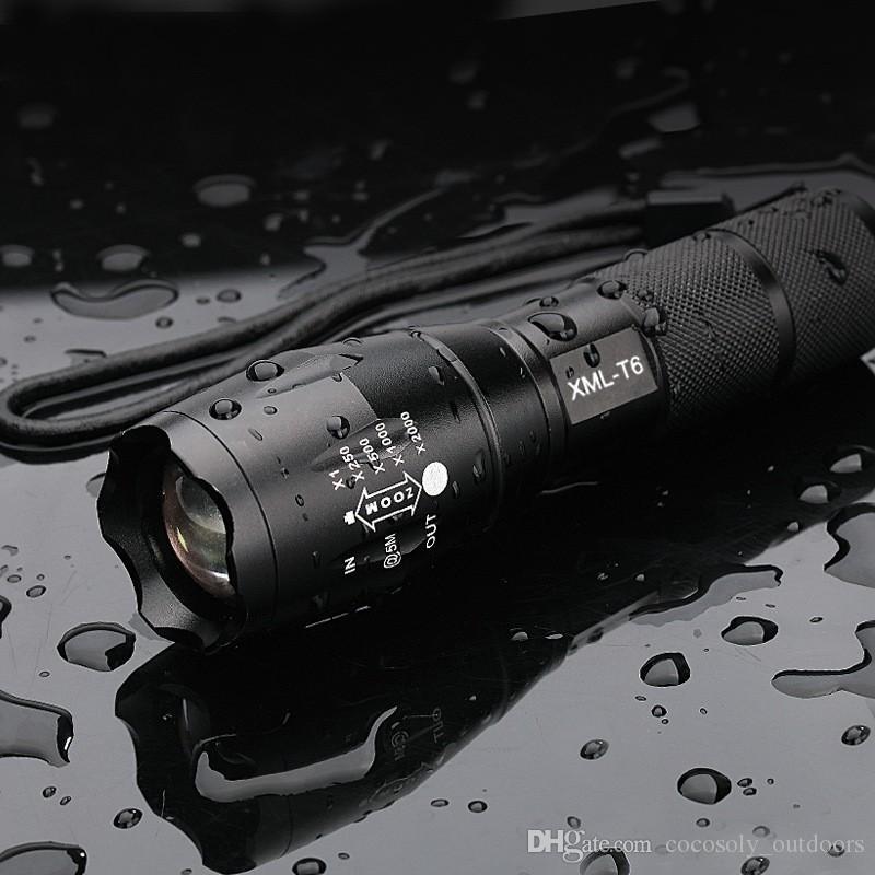 Alta Potência XML-T6 5 Modos 3800 Lumens LED Lanterna À Prova D 'Água Zoomable tocha luzes