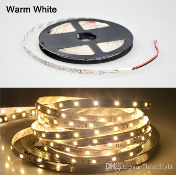 2835 SMD LED faixa de luz flexível 12 V 60LED / m 5 m / lote, The2835 Consumo de Energia como 3528, Brilho como 5050