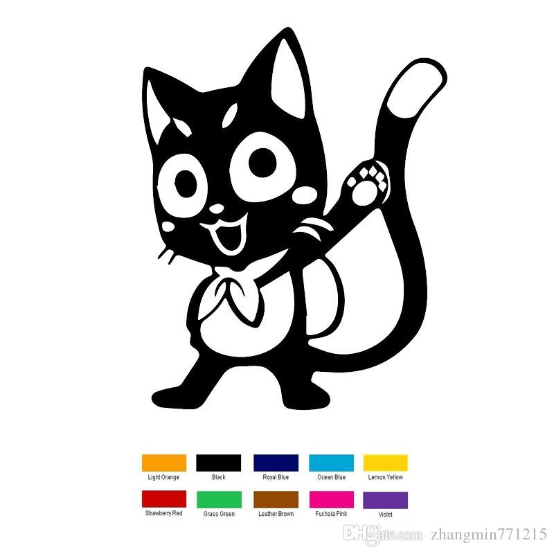 Wholesale Vinyl Decals Car Stickers Glass Stickers Scratches Stickers Wall Die Cut Bumper Accessories Jdm Anime Fairy Cat Tail Happy
