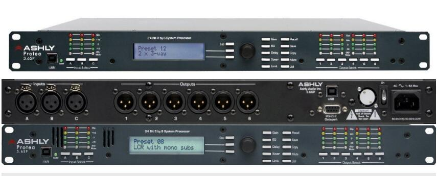 Ashlly 3 6sp Protea Style Audio Processor For PA System Karaoke Equipment  And Stage Performance Multi Function Digital Sound Box Processor Computers