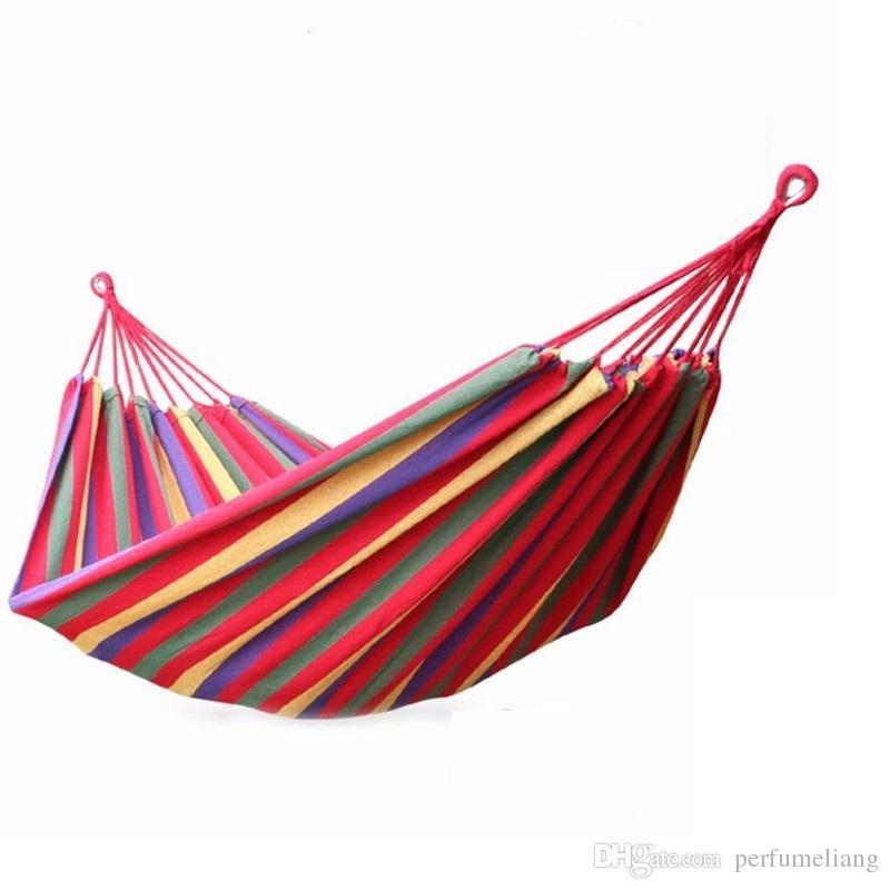 36pcs 190*80cm Portable Hammock Hamac Outdoor Leisure Bed Hanging Bed Sleeping Canvas Swing Hammocks Camping Hunting 4 Colors ZA0941