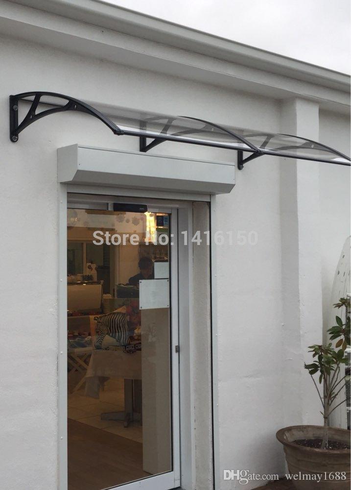 DS100200-A, 100x200CM.Accueil Auvent de fenêtre simple et agréable, support en aluminium avec store de fenêtre en polycarbonate