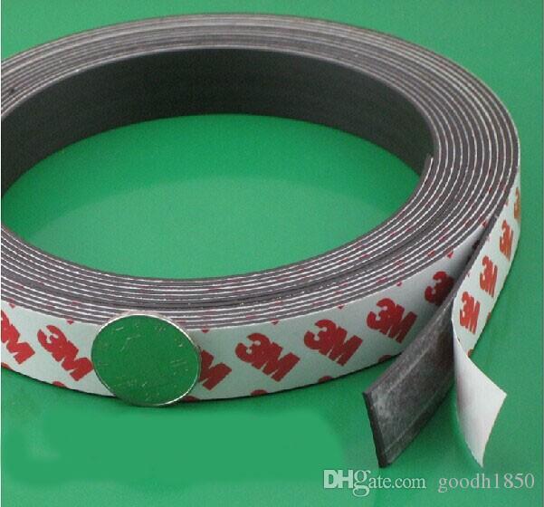 Ímã de borracha adesivo de 3M: Tamanho de 1m (l) 15mm (W) * 1.5mm (t); tira do ímã de borracha adesiva, tiras do ímã da cola