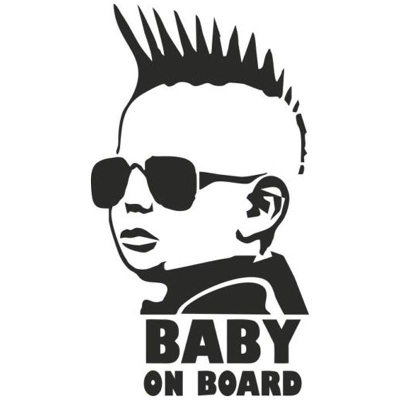 Baby On Board Car Sticker Bumper Decal Vinyl Car Window Cool Baby Sun Glasses