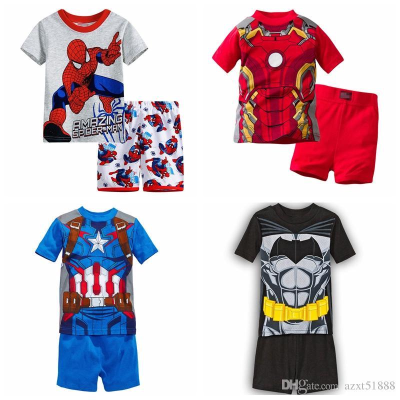 New arrived Childrens clothing boy girl child cartoon short-sleeve set summer lounge children Pajamas set baby set sleeping wear
