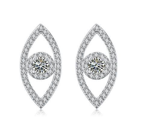 Earrings Jewelry Luxury Fashion Women High Quality Zircon 18K Gold Plated Eye Style Stud Earrings Wholesale Free Shipping TER053