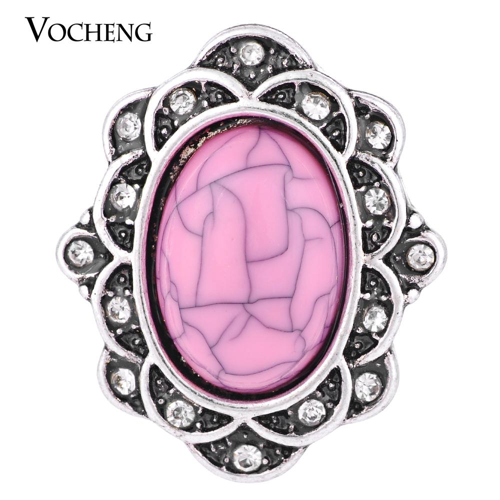 NOOSA 18mm Charms Snap 4 Couleurs strass ovale Ginger snap Bijoux VOCHENG Vn-1271