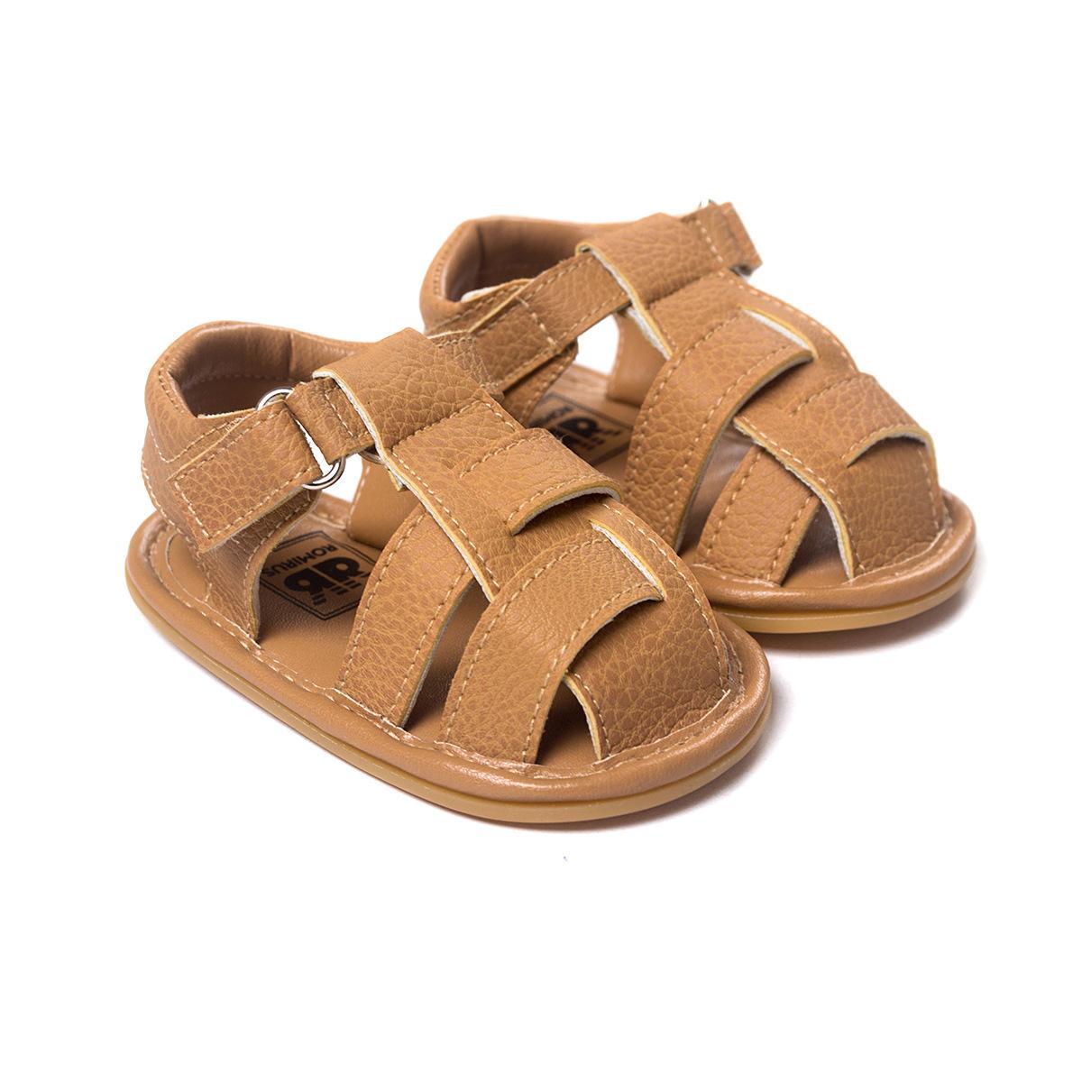 Sommar barn baby flickor pojke strand moccasins läder sandal första walker skor spädbarn prewalker toddler skor barn skor baby första wal