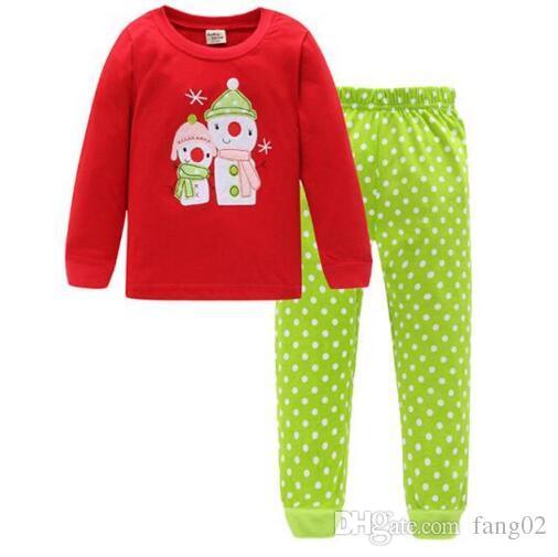 ALove Kid Girls Christmas Pajamas Set Unisex Cotton Xmas Pjs Sleepwear 2-7 Years