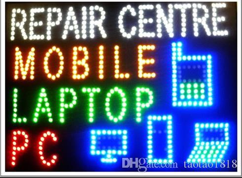 인도의 모바일 / PC를 / 노트북 수리 센터 기호를 깜박이 뜨거운 판매 사용자 정의 그래픽 19X19 인치 실내 울트라 브라이트