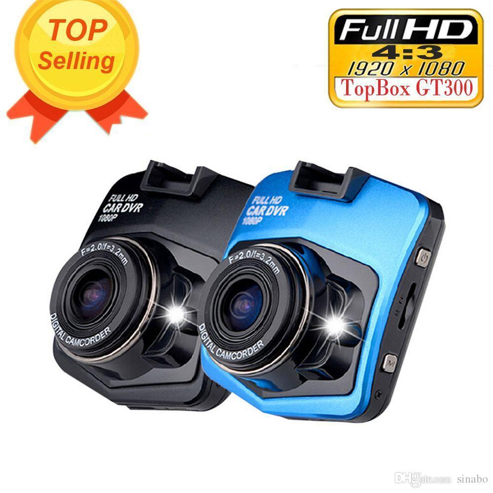 100 % 원래 미니 자동차 DVR 카메라 Topbox GT300 Dashcam 풀 HD 1080P 비디오 등록기 레코더 G- 센서 야간 투시 대시 캠