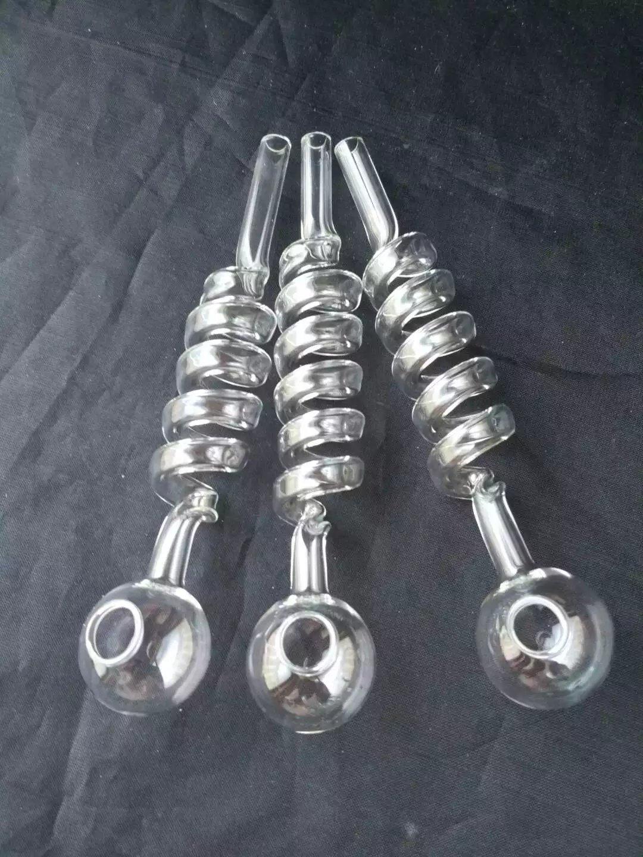 5 pot en verre à spirale épaissie