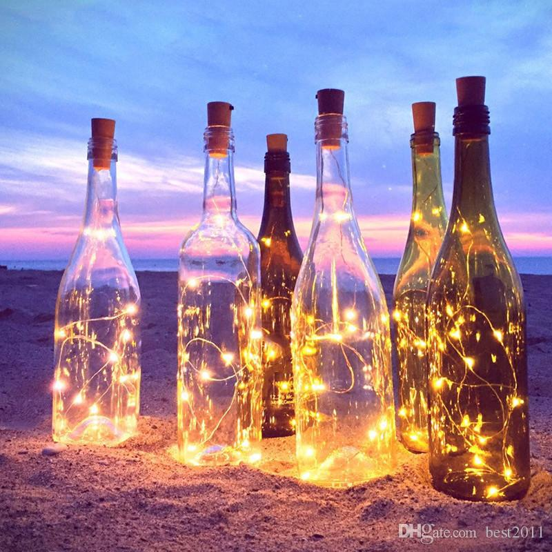 High Quality 1M 10 LED Bottle Cork Shaped String Light Waterproof Solar Power Night Fairy Light Lamp Christmas Decor