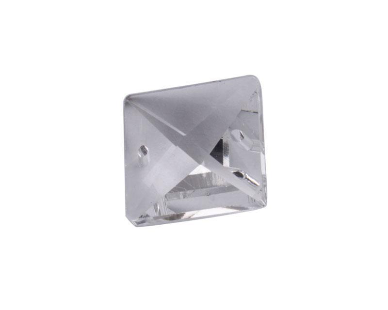 novo chegar 20 PCS 2 Furos Limpar Cristal Praça Chandelier Peças 20mm # 92397 à venda