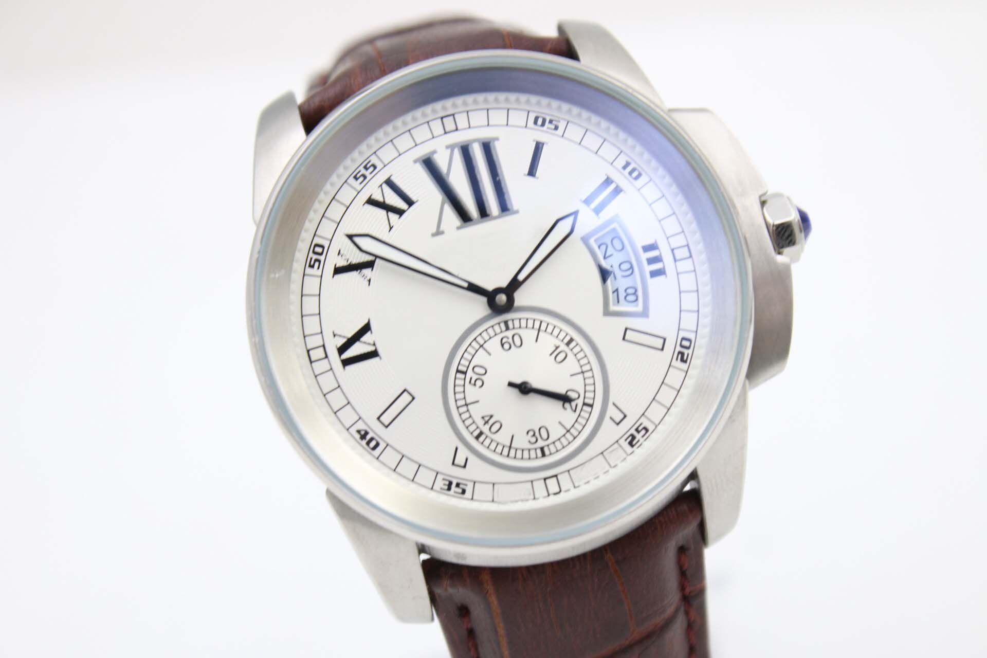 Mode Casual Ceinture Marron W7100037 Automatique Diamètre De Fond 01 Cadeau De Messieurs Montre Classique Avancée Livraison Gratuite